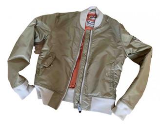 Schott Beige Polyester Leather jackets