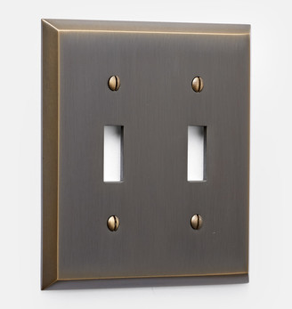 Rejuvenation Lewis Double Toggle Switchplate