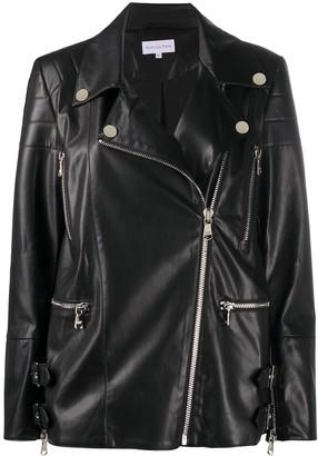 Patrizia Pepe Zip-Up Faux-Leather Jacket
