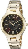 Anne Klein Women's AK/1450BNGB Brown Dial Gold-Tone Bracelet Watch