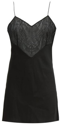 Marina Moscone Lace-panelled Satin Camisole - Black
