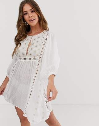 Free People Charlotte tunic dress-Cream