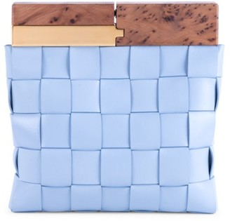 Bottega Veneta Small Snap Leather Clutch