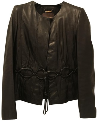 Roberto Cavalli Black Leather Jacket for Women