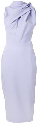 Maticevski Draped Fitted Midi Dress