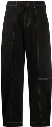 See by Chloe Topstitching Straight-Leg Jeans