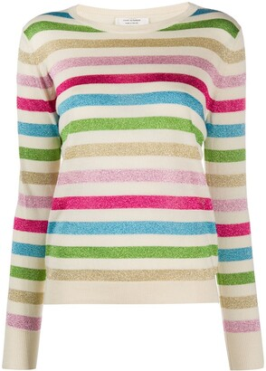 Chinti and Parker x Issimo striped crew-neck jumper