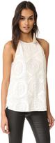 Diane von Furstenberg Laygin Embellished Blouse