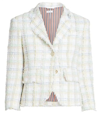 Thom Browne Unconstructed Tweed Blazer