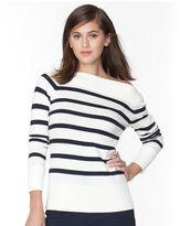 Chaps Women's Striped Boatneck Sweater