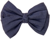 Crazy 8 Chambray Bow Barrette