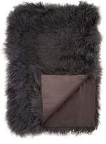 Adrienne Landau Mongolian Lamb Fur Throw