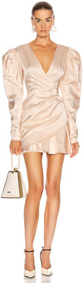Rotate by Birger Christensen Aiken Dress in Pastel Rose Tan | FWRD