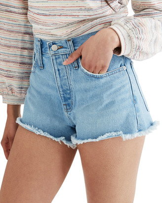Madewell Rigid Denim Boy Shorts