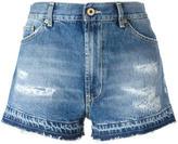 Dondup distressed denim shorts - women - Cotton - 27