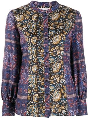 Antik Batik Floral Silk Blouse