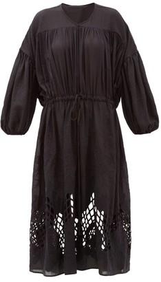 Esperanza Love Binetti Crochet-lace Voile Dress - Womens - Black