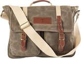 Cathy's Concepts Cathys Concepts Personalized MenS Waxed Canvas & Leather Messenger Bag