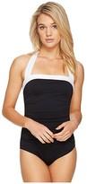Lauren Ralph Lauren Bel Aire Bandeau Mio One-Piece (Black) Women's Swimsuits One Piece