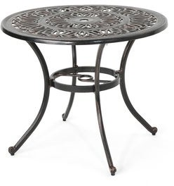 Christopher Knight Home Tucson Outdoor Round Cast Aluminum Dining Table