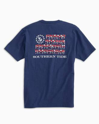 Southern Tide Nautical Buoys Flag Heathered T-shirt