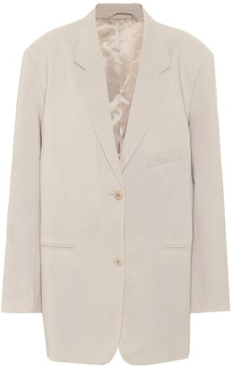 Frankie Shop Pernille single-breasted crApe blazer