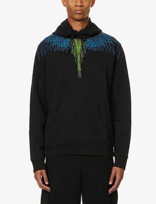 Marcelo Burlon County of Milan Wings graphic-print cotton-jersey hoody
