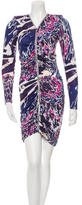 Emilio Pucci Long Sleeve Printed Dress