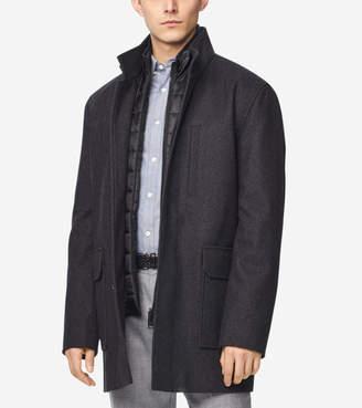 Cole Haan Melton Wool 3-in-1 Coat