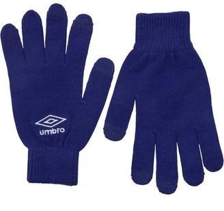 Umbro Mens Knitted Tech Gloves Royal/White