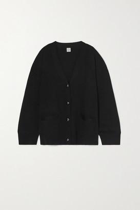 Totême Vinci Merino Wool Cardigan - Black
