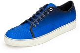 Lanvin Men's Gradient Python Low-Top Sneaker, Blue