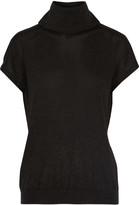 Brunello Cucinelli Cutout cashmere and silk-blend turtleneck sweater