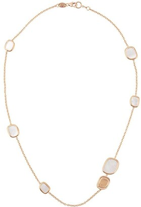 Roberto Coin 18kt rose gold Black Jade ruby and quartz necklace