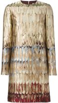 Valentino 'Feathered Colour' shift dress