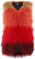 Biba Faux fur mongolian longline gilet
