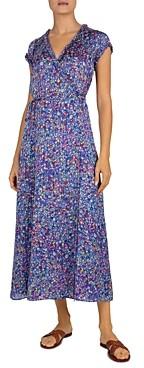 Gerard Darel Floral Print Wrap Dress