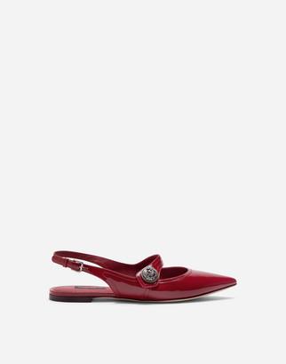 Dolce & Gabbana Polished Calfskin Slingbacks