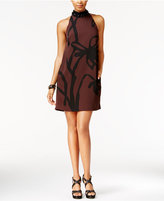 Rachel Roy Embellished Mock-Neck Swing Dress