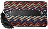 Jessica McClintock Blake Straw Chevron Clutch Clutch Handbags