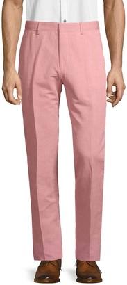 HUGO BOSS Classic Linen & Cotton Blend Pants
