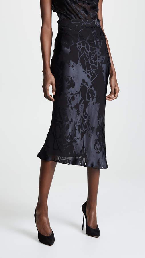 105463319 Black High Waist Chiffon Skirt - ShopStyle Canada
