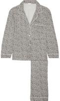 Eberjey Sleep Chic Leopard-print Jersey Pajama Set - Gray