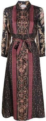 Pierre Louis Mascia Floral Pattern Wrap Shirt Dress