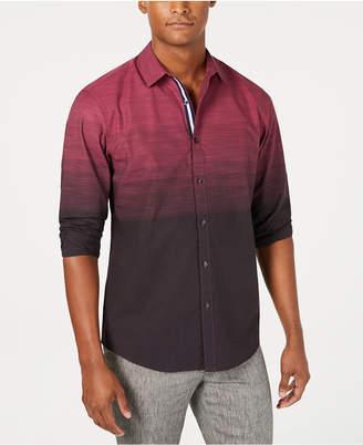 INC International Concepts Inc Men Ombre Striped Shirt
