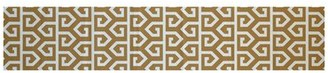 Bronx Georgia-May Geometric Print Gold Indoor/Outdoor Area Rug Ivy Rug Size: Rectangle 3' x 5'