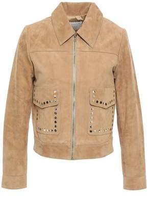 Sandro Studded Suede Jacket