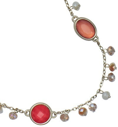 LOFT Long Cabochon and Dangling Beads Necklace