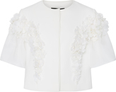 Georges Hobeika Short Sleeve Floral Jacket