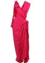 Lanvin Ruched Wrap Gown
